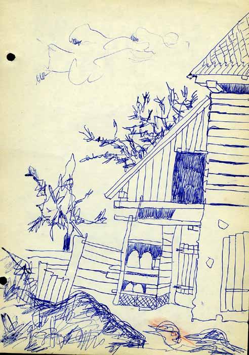 UNTITLED - Ball Pen / Paper (29x21) 1973