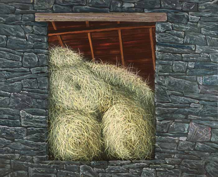 LOFT WITH HAY - Oil/Canvas (81x100) 1997