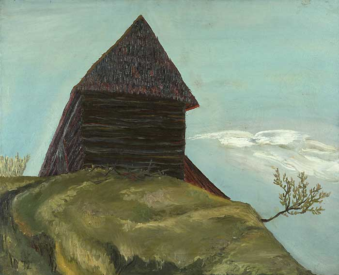 SHED - Oil/Canvas (81x65) 1972