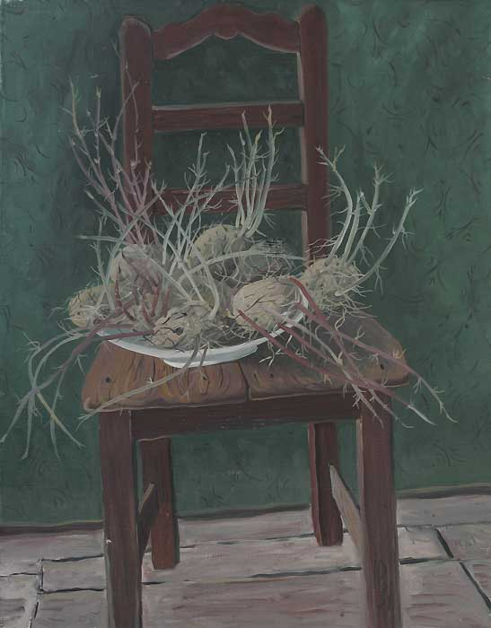 GERMINATED POTATOES V - Oil/Canvas (65x50) 1981