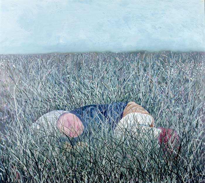 SLEEPING IN THE GRASS - Oil/Canvas (73x81) 1981