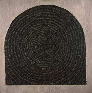 HEAD OF WODDEN BEAM XXVIII - Oil/Canvas (81x81) 1986