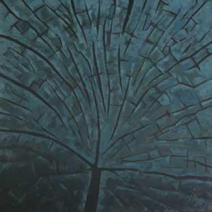 HEAD OF WODDEN BEAM XXIV - Oil/Canvas (65x65) 1986