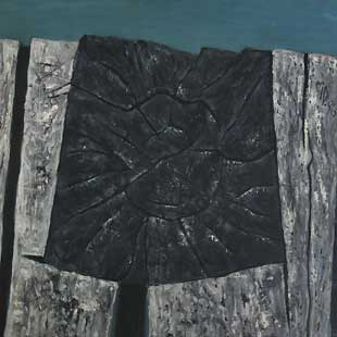 HEAD OF WODDEN BEAM XX - Oil/Canvas (65x65) 1986