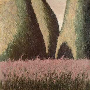 HAYSTACKS I - Oil/Canvas (72x72) 1988