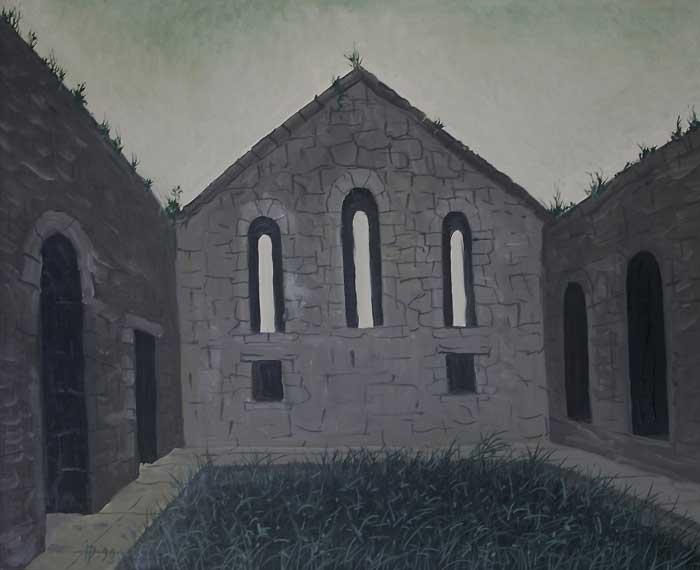 GHELATI CHURCH (GRUZIA) - Oil/Canvas (49x61) 1990