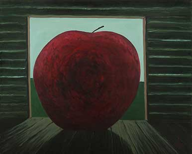 APPLE IN SHED - Oil/Canvas (65x81) 1991