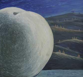 APPLE IN LANDSCAPE II - Oil/Canvas (60x65) 1995