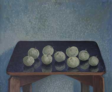 NINE APPLES - Oil/Canvas (46x55) 1995
