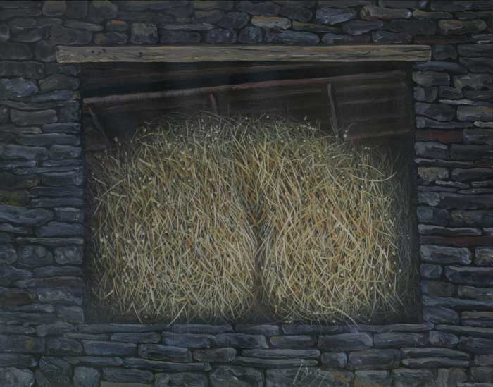LOFT WITH HAY - Oil/Canvas (50x65) 1997