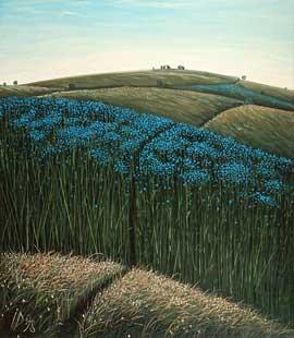 LINUM FIELD - Oil/Canvas (75x65) 1998