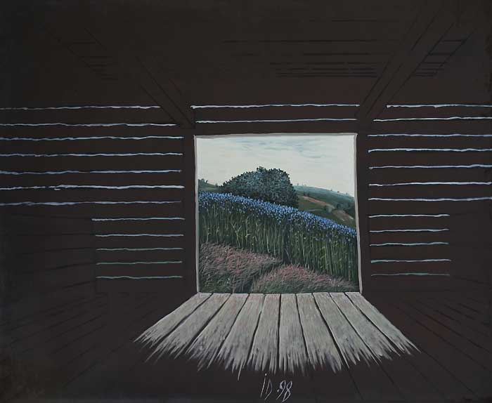 LINUM FIELD IN SHED - Oil/Canvas (81x100) 1998