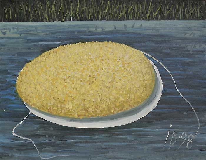 POLENTA WITH THREAD - Oil/Canvas (27x35) 1998
