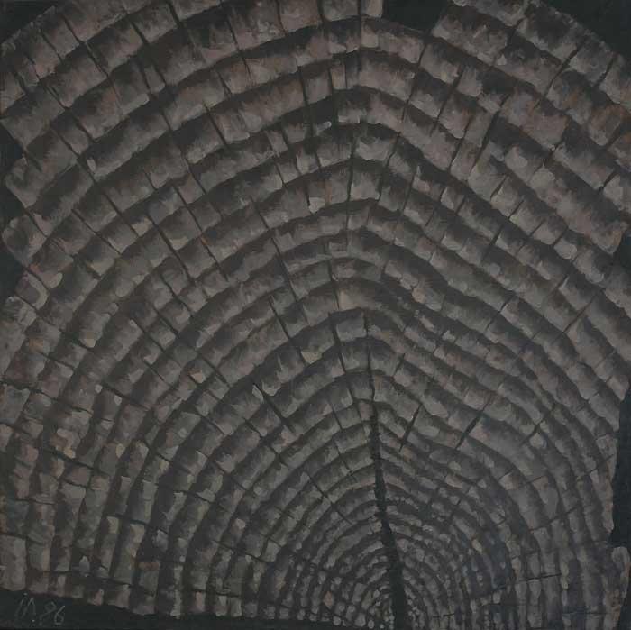 CAP DE GRINDA XXII - Ulei/Pînza (65x65) 1986