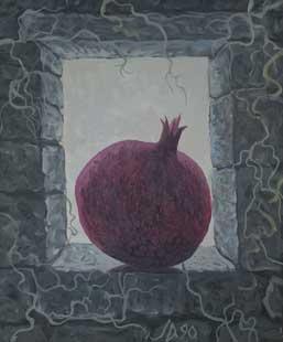 RODIE IN FEREASTRA - Ulei/Pînza (45,5x38) 1990