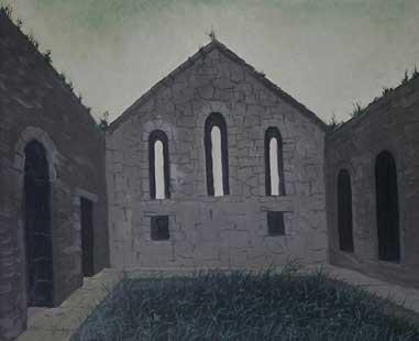 BISERICA GHELATI (GRUZIA) - Ulei/Pînza (49x61) 1990