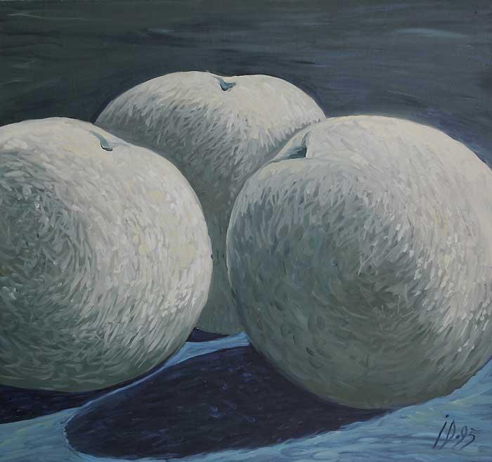 TREI MERE - Ulei/Pînza (60x65) 1995