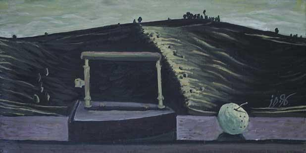 PEISAJ CU TICLAZAU - Ulei/Pînza (25x50) 1996