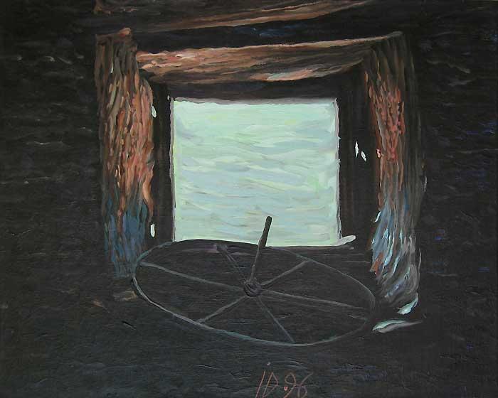 FEREASTRA III - Ulei/Pînza (40x50) 1996