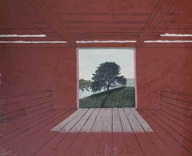 COPAC IN SURA - Ulei/Pînza (81x100) 1998
