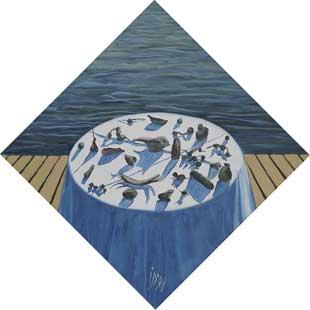 UMBRE - Ulei/Pînza (45x45) 1998